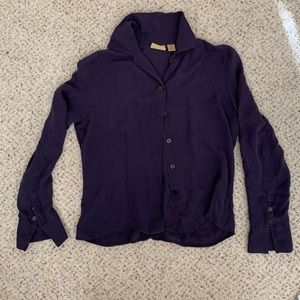 Tops - Long sleeve purple blouse